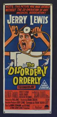 The Disorderly Orderly 1964 Daybill movie poster Jerry Lewis