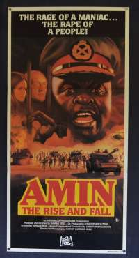 Amin The Rise And Fall Australian Daybill Poster