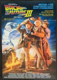 Back To The Future Part III Movie Poster Original One Sheet Michael J Fox