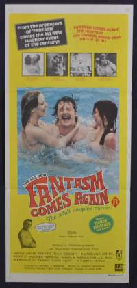 Fantasm Comes Again Movie Poster Original Daybill 1977 Ozploitation John Holmes
