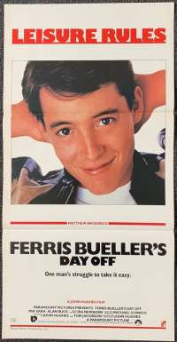 Ferris Bueller's Day Off Movie Poster Original Daybill 1986 Matthew Broderick