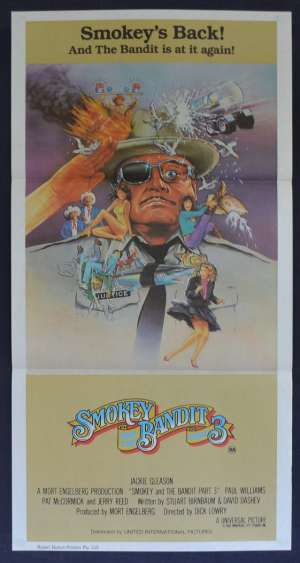 Smokey And The Bandit Part 3 Poster Original Daybill 1983 Jerry Reed Burt Reynolds