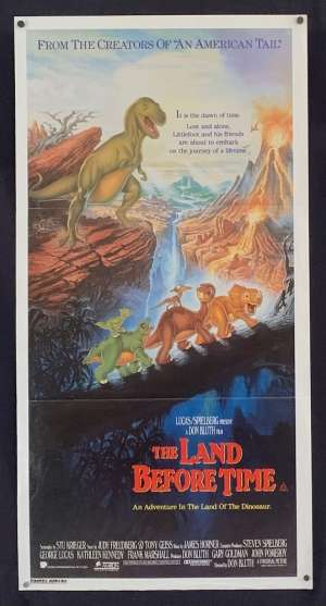 The Land Before Time Movie Poster Original Daybill Dinosaurs Don Bluth