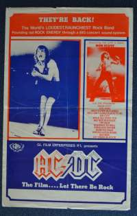 AC/DC - Let There Be Rock Poster AC / DC Concert Mini Daybill Australian Concert