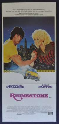 Rhinestone movie poster Daybill Sylvester Stallone Dolly Parton