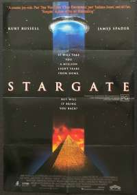 Stargate 1994 One Sheet movie poster Kurt Russell James Spader