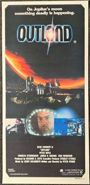 Outland Daybill movie poster Sean Connery