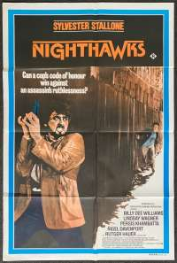 Nighthawks Poster One Sheet Original 1981 Sylvester Stallone Rutger Hauer