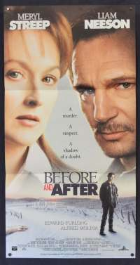 Before And After Movie Poster Original Daybill 1996 Meryl Streep Liam Neeson