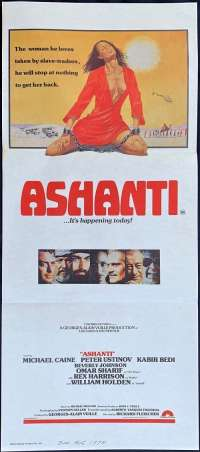 Ashanti - Michael Caine Daybill Movie poster