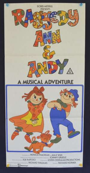 Raggedy Ann & Andy 1977 Daybill movie poster animated musical