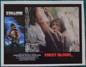 First Blood Lobby Poster Original 11x14 No.3 Sylvester Stallone Rambo