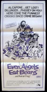 Even Angels Eat Beans Daybill Movie poster