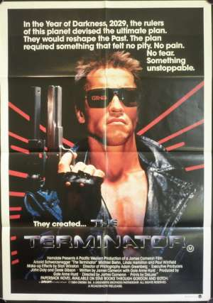 The Terminator 1984 One Sheet Movie Poster Arnold Schwarzenegger