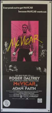 McVicar 1980 Daybill movie poster Gangster Roger Daltrey The Who