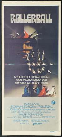 Rollerball Movie Poster Original Daybill 1975 James Cann Bob Peak art