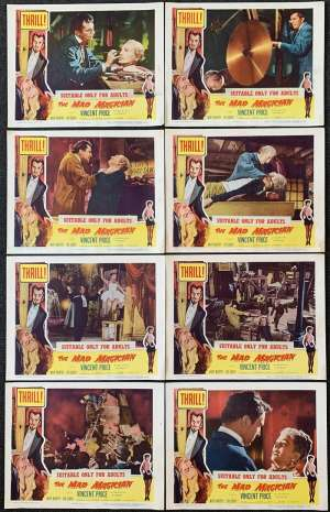 The Mad Magician 1954 Vincent Price Eva Gabor 11x14 Lobby Card Set