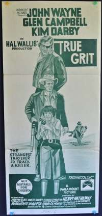 True Grit 1969 Daybill Movie Poster John Wayne Glen Campbell