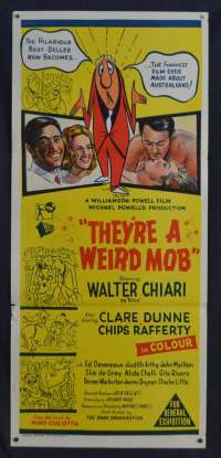 They're A Weird Mob Movie Poster Original Daybill 1966 Chips Rafferty Jacki Weaver