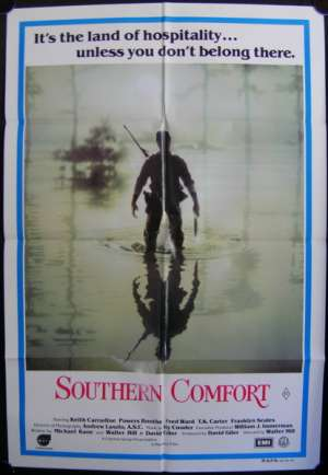 Southern Comfort Movie Poster Original One Sheet 1981 Keith Carradine Walter Hill