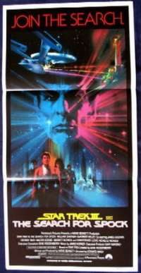 Star Trek III: The Search For Spock Daybill movie poster Captain Kirk