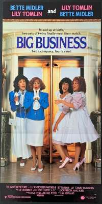 Big Business Movie Poster Original Daybill 1988 Bette Midler Lilly Tomlin