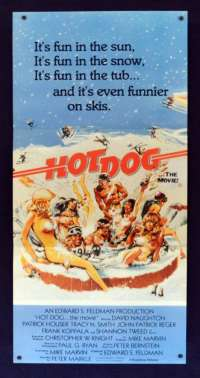 Hot Dog The Movie 1984 Daybill movie poster Patrick Houser Shannon Tweed Playmate
