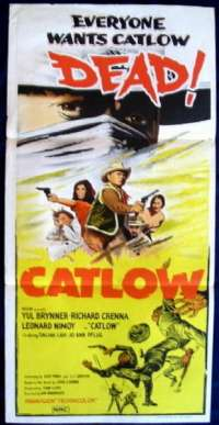 Catlow 1971 Yul Brynner Richard Crenna Daybill movie poster