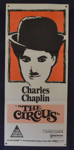 The Circus 1928 Movie Poster Original Daybill 1970's Re-Issue Charles Chaplin