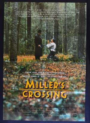 Miller's Crossing 1990 One Sheet Movie Poster Rare Gaybriel Byrne Coen Brothers