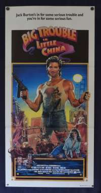 Big Trouble In Little China Daybill movie poster Kurt Russell John Carpenter