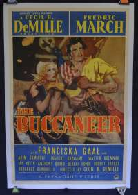 The Buccaneer USA One Sheet Style A Movie Poster
