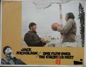 One Flew Over The Cuckoo's Nest Jack Nicholson Lobby Card No. 1