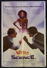 Weird Science Poster Original One Sheet 1985 Kelly LeBrock John Hughes