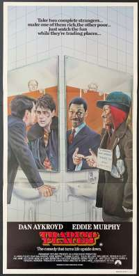 Trading Places 1983 Rare Daybill movie poster Eddie Murphy best art