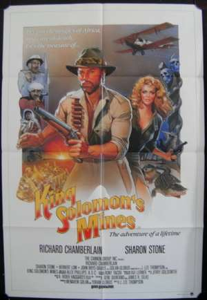 King Solomon's Mines 1985 Richard Chamberlain One Sheet movie poster