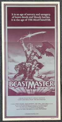 The Beastmaster 1982 Daybill movie poster Tanya Roberts Marc Singer