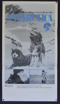 Antarctica Movie Poster Original Daybill 1983 South Pole Story Japanese Film