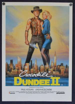 Crocodile Dundee 2 1988 movie poster Flyer Paul Hogan Linda Kozlowski
