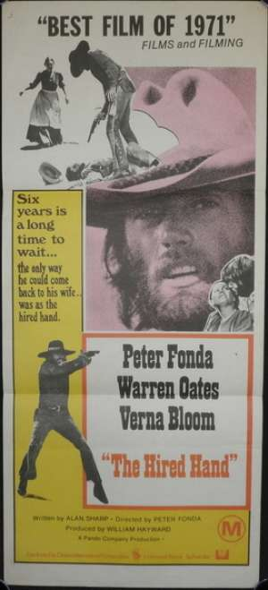 The Hired Hand 1971 Peter Fonda Warren Oates Daybill Movie poster
