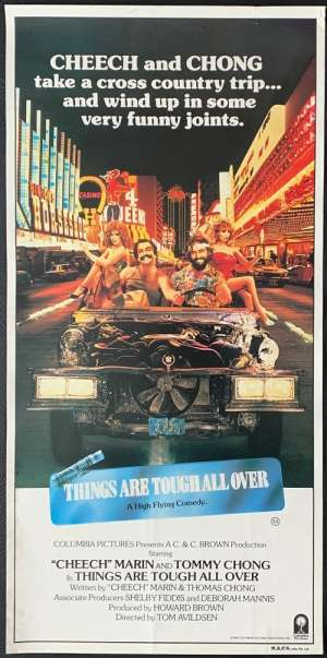 Things Are Tough All Over 1982 Daybill Movie Poster Cheech & Chong RARE No Folds