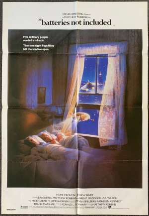 Batteries Not Included Movie Poster Original One Sheet 1987 Drew Struzan Art