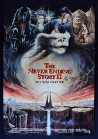 The Neverending Story 2 The Next Chapter Poster Original One Sheet 1990 Brandis