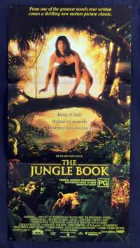 The Jungle Book 1994 Daybill movie poster Jason Scott Lee Sam Neill