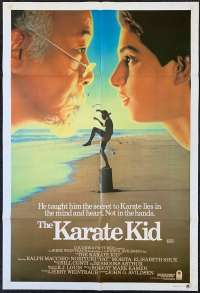 The Karate Kid Poster Original One Sheet 1984 Faces Art Ralph Macchio Martial Arts