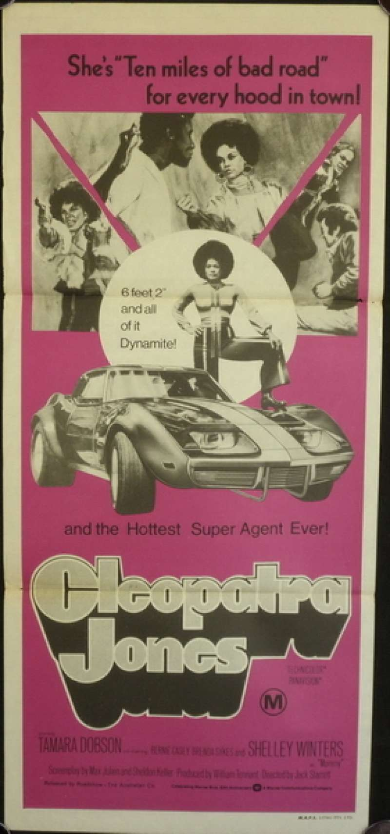 All About Movies Cleopatra Jones Poster Australian Daybill Movie Poster