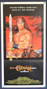 Conan The Destroyer 1984 Daybill movie poster Arnold Schwarzenegger