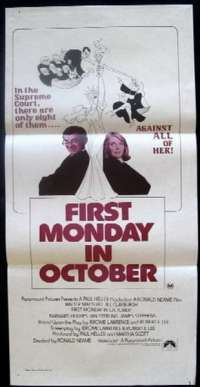 First Monday In October Daybill Movie poster