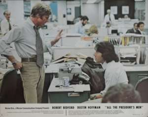 All The President's Men 1976 Robert Redford Dustin Hoffman 11x14 USA Lobby Card No 1