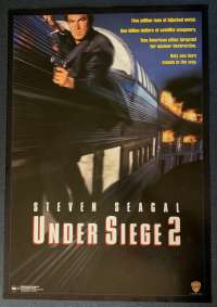 Under Siege 2 Dark Territory Poster Original One Sheet DVD Release 1995 Seagal